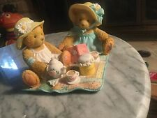 """Cherished Teddies Freda And Tina """" Our Friendship is A Perfect Blend"""" Figurine-"""