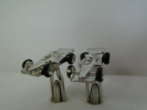 IndyCar / Formula-1 Race Car Cuff Links Silver Toned Indianapolis 500 IRL CART