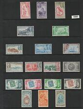 BARBADOS 1950 SET   SG271-282 + EXTRAS MTD MINT CAT£55