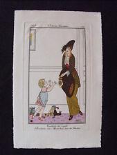 Armand Vallée Costumes Parisiens 1913   Pl. 129 Toilette visite bonbons enfant