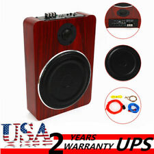 8'' 600W Under-Seat Car Subwoofer Powered Bass Amplifier Slim Enclosure Sub