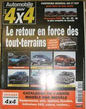 Automobile revue SUV 4X4 N° 25 Tout terrains Dacia Duster BMW X1 Porsche Cayenne