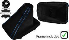 BLUE STITCH SUEDE AUTOMATIC GEAR BOOT PLASTIC FRAME FOR BMW E90 E91 E92 E93