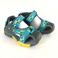 Rabbit Toddler Boys Sport Sandals Closed Toe Straps Blue Green Size 26 US 9