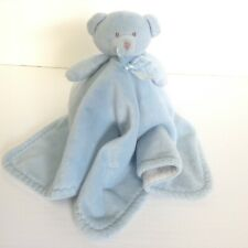 07c3bf68f9 Blankets And Beyond Blue Bear Security Blanket Lovey White Underneath