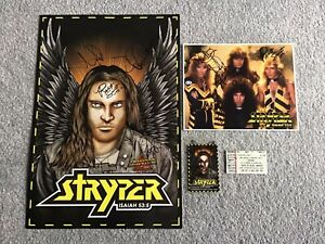 STRYPER SIGNED MEMORABILIA ORIGINAL BAND 80's ROCK MICHAEL SWEET