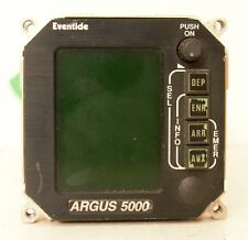 Eventide Avionics Argus 5000 Moving Map Indicator W/ Tray Mods 5000-10-00 (Ar)