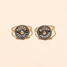 Sterling Silver Women Vintage Fine Jewelry Handmade Bohemian Design Toe Ring 925