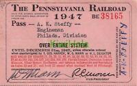 Train Pennsylvania Railroad Pass 1947