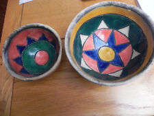 Two Vintage handmade and hand painted bowls