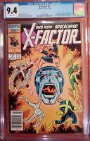 "X-Factor #6 (Jul 1986, Marvel) CGC 9.4 NM (1st full Apocalypse) ""KEY"""
