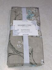 "Shabby Chic Easter Spring Set of 4 Napkins 18x18"" Floral Cotton New"