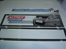 NSW Slimline/Premuim Chrome Edge Number Plate Covers Clear Perspex Sent Register