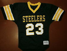 vtg PITTSBURGH STEELERS 23 JERSEY Delong 70s 80s YOUTH LARGE Free USA Shipping