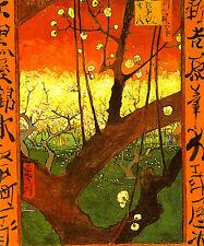 "Vincent Van Gogh: japonaiserie, Prugna albero in Bloom: 24 ""Canvas fine art print"