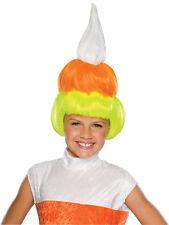 Girls Candy Corn Wig Costume Kids Childs Halloween Yellow Orange White NEW