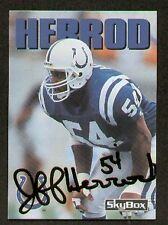Jeff Herrod signed autographed Skybox Football Card