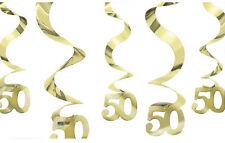 en Or Décoration Mariage Pendant Tourbillons 50th fête anniversaire doré 50