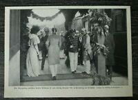 AD) Blatt Treffen Kaiser Wilhelm II König Eduard Edward VII 1907 Kronberg Taunus