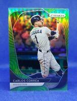 2020 Prizm Baseball #237 Carlos Correa Lime Green Refractor /125