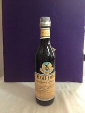 ANTIGUA BOTELLA LICOR FERNET BRANCA VINTAGE AÑOS 80 SELLO IMPUESTOS