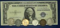 Starter Collection $1 Silver Certificate, Mercury Dime, Liberty Nickel and more.