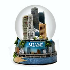Miami Florida Snowdome Color Snow Globe-New-65mm
