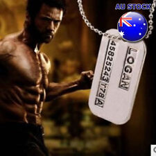 Wholesale X Men Wolverine Logan Double Dog Tag Pendant Chain Necklace Cosplay
