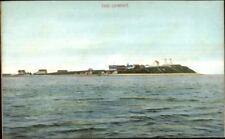 Plymouth MA Gurnet Lighthouses c1910 Postcard Version #5