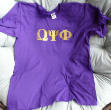 Omega Psi Phi T Shirt: Purple with Glitter Gold Lettering: Men's Size 2XL
