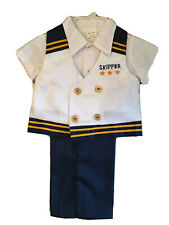 VTG Boy NEW  12 mo baby  Nautical 3 PC  Sailor Skipper Suit Outfit    Dead stock