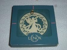 New In Box Lenox Yule Xmas Angel W Horn Christmas Bells Ornament Yuletide Nib >