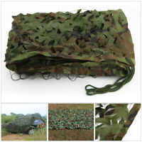 Woodland Camo Netting Camping Chasse Militaire Camouflage Net Cover Sun Shelter
