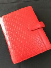 FILOFAX/ORGANISER-ADELPHI POCKET-DELUXE SCARLET DELUXE SMOOTH LEATHER~RARE