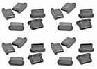20x USB TYPE-C DUST PLUG STOPPER SILICONE BLACK for Microsoft Surface Duo