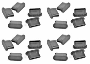 20x USB TYPE-C DUST PLUG STOPPER SILICONE BLACK for Samsung Galaxy S10 S10+ S10e