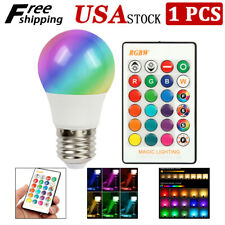16 Color Changing Magic Light E27 RGB LED Lamp Bulb with Wireless Remote Control
