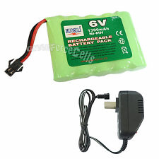 6V 1300mAh Ni-MH Rechargeable Battery Pack Connector + Charger For Rc Toy