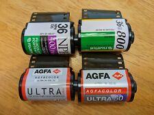 Lot of 4 Rolls of Color 35mm film - Hard to Find - Fuji Nph Press Agfa Ultra