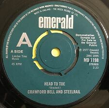 "Crawford Bell and Steelrail - Head To Toe UK 1977 7"" Emerald Recs (Demo)"