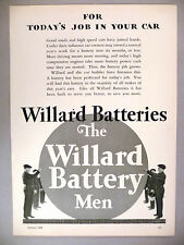 Willard Car Battery PRINT AD - 1929 ~~ Battery Men