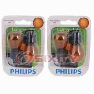 2 pc Philips Front Side Marker Light Bulbs for Freightliner Sprinter 2500 tk