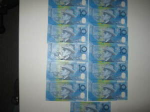 $10.00  Australian NOTES X 13 CONSECUTIVE Numbered Evans /MacFarlane 1998