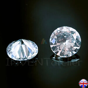 Zirconia Round White Cubic CZ 5A Grade  2-6mm Brilliant Clear Gems Loose Stone