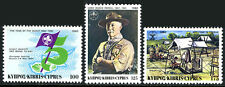 Cyprus 585-587, MNH. Scouting Year. Lord Baden-Powell, Flag, Camp site, 1982