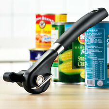 Professional Manual Tin Can Opener Safe Cut Lid Smooth Edge Side Stainless Steel