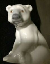 Lladro #1209 Seated Polar Bear 1977 Porcelain Figurine Retired