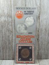 1983 Hockey Dollars Wayne Gretzky Coin Edmonton Oilers NHL Vintage one coin
