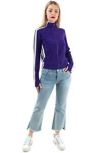 NORMA KAMALI Track Jacket Size XXS Stretch Striped Sides Full Zip Funnel Neck