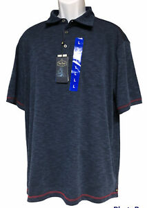 Mens Nat Nast Luxury Originals Navy Blue Polo Golf Rugby Large Shirt New Tags